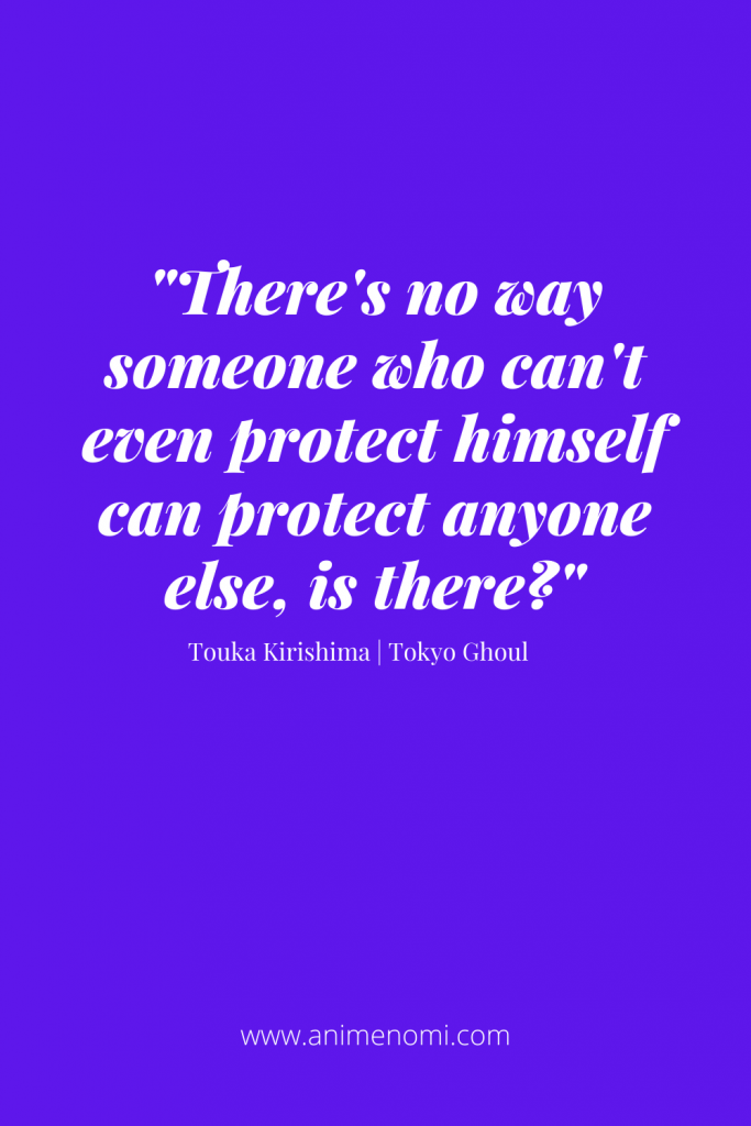 There's no way someone who can't even protect himself can protect anyone else, is there