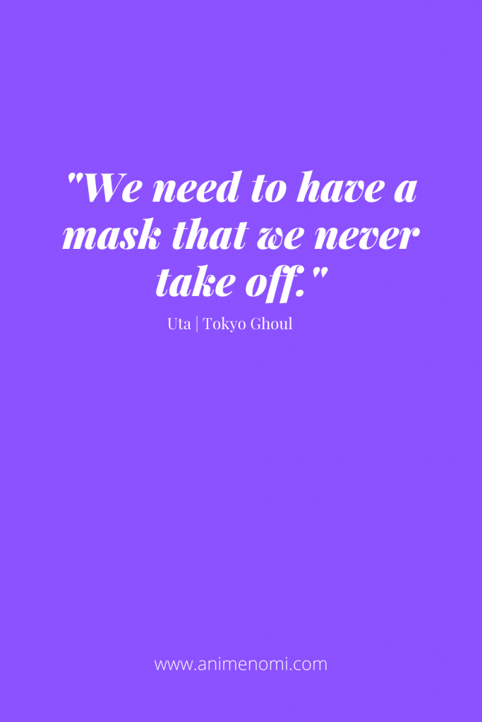 We need to have a mask that we never take off.