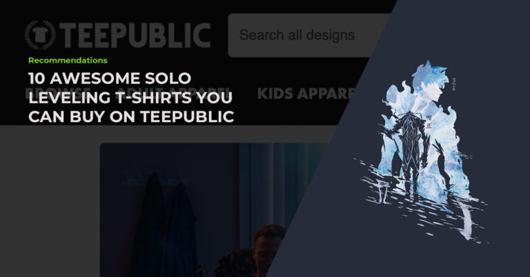 10 Hand-Picked Awesome Solo Leveling T-Shirts You Can Buy On TeePublic